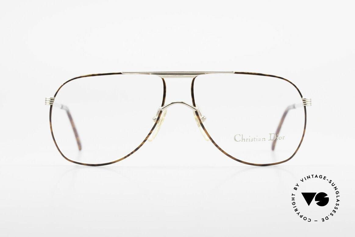 Christian Dior 2553 Vintage Glasses Aviator Style, top quality (gold-plated and chestnut finish), Made for Men