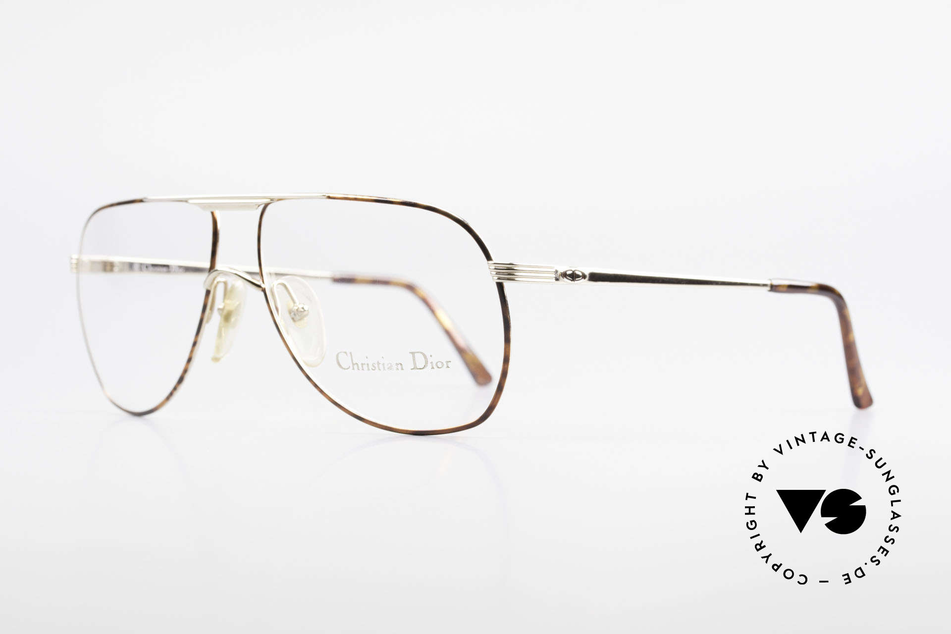 Christian Dior 2553 Vintage Glasses Aviator Style, M-L version in size 61-14 (140mm frame width), Made for Men