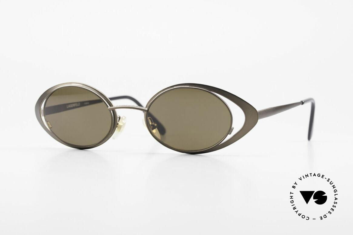 Karl Lagerfeld 4136 Oval 90's Designer Shades, genuine vintage designer sunglasses by Karl Lagerfeld, Made for Women