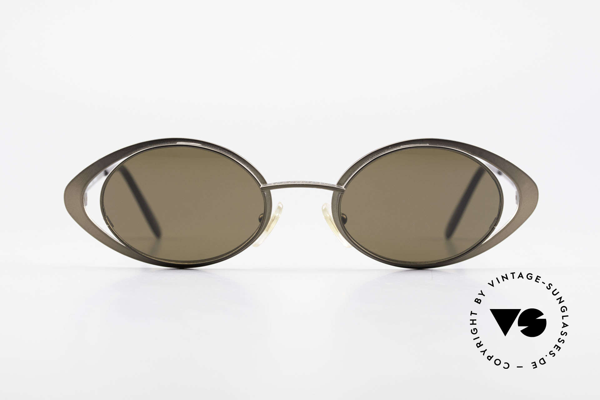Karl Lagerfeld 4136 Oval 90's Designer Shades, limited-lot production of the 90's in high-end quality, Made for Women