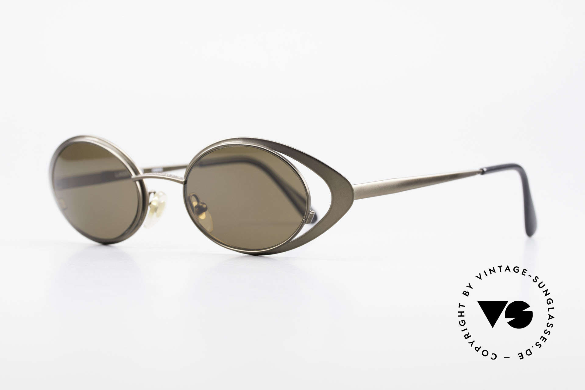 Karl Lagerfeld 4136 Oval 90's Designer Shades, monolithic design (true vintage) - You must feel this!, Made for Women