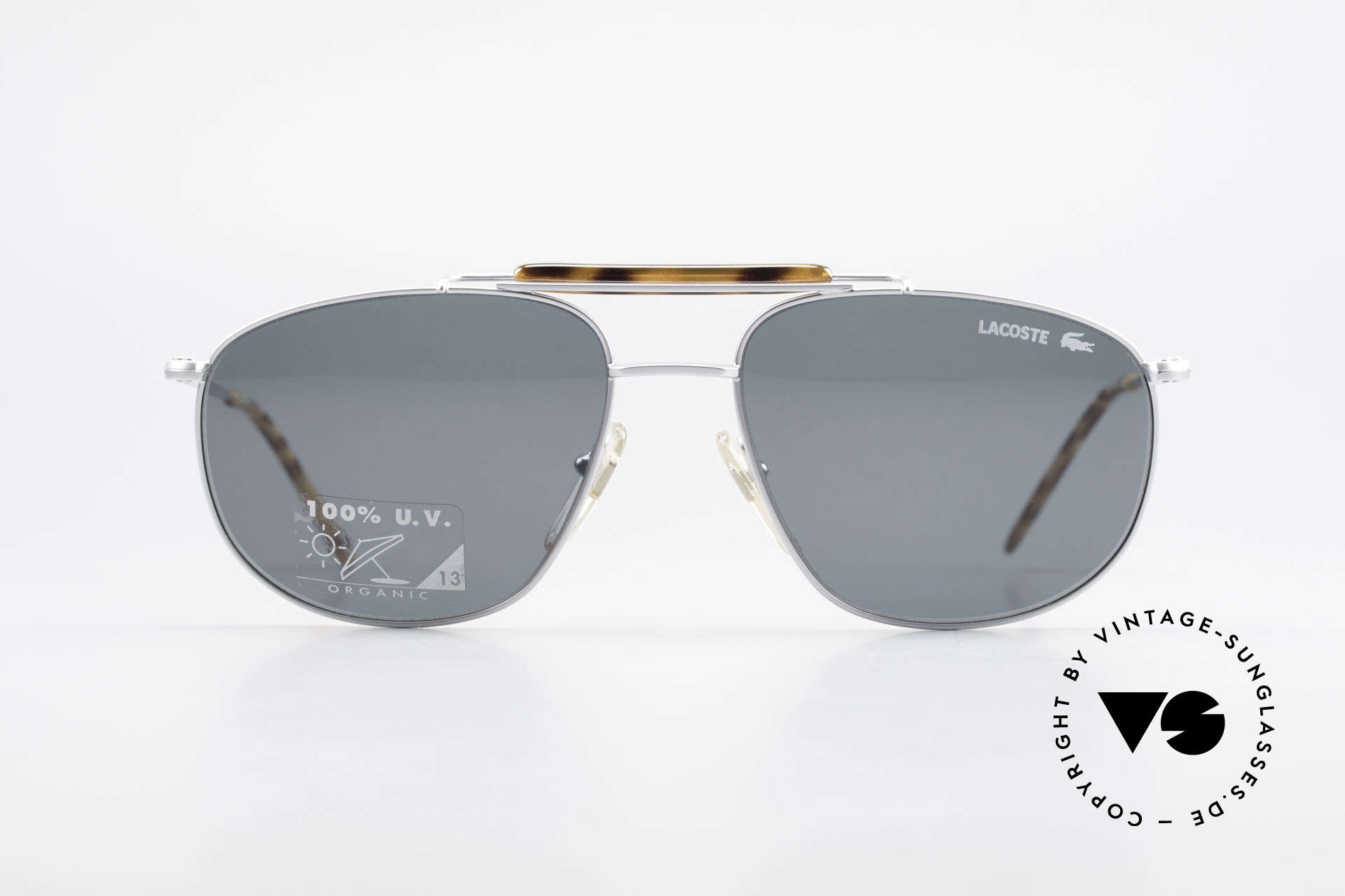 Lacoste 149 Titanium Sports Sunglasses, hybrid between sport and chic; with orig. case, Made for Men
