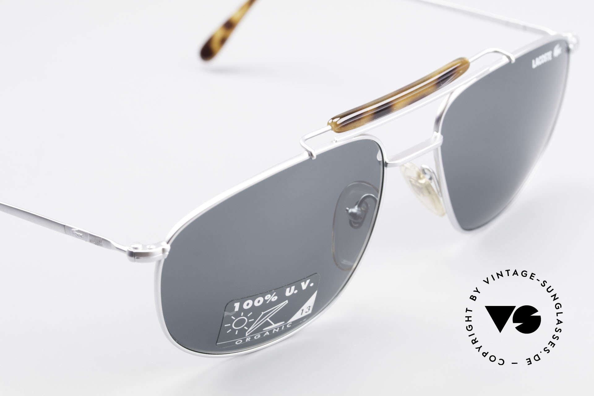 Lacoste 149 Titanium Sports Sunglasses, unworn (like all our vintage Lacoste sunglasses), Made for Men