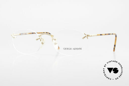 Giorgio Armani 197 Rimless Vintage Eyeglasses Details