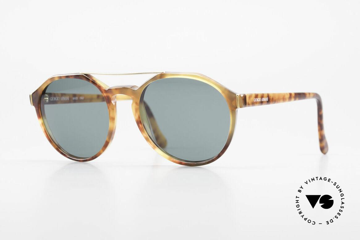 Giorgio Armani 311 Round Aviator 80s Sunglasses, interesting vintage Giorgio Armani designer sunglasses, Made for Men and Women