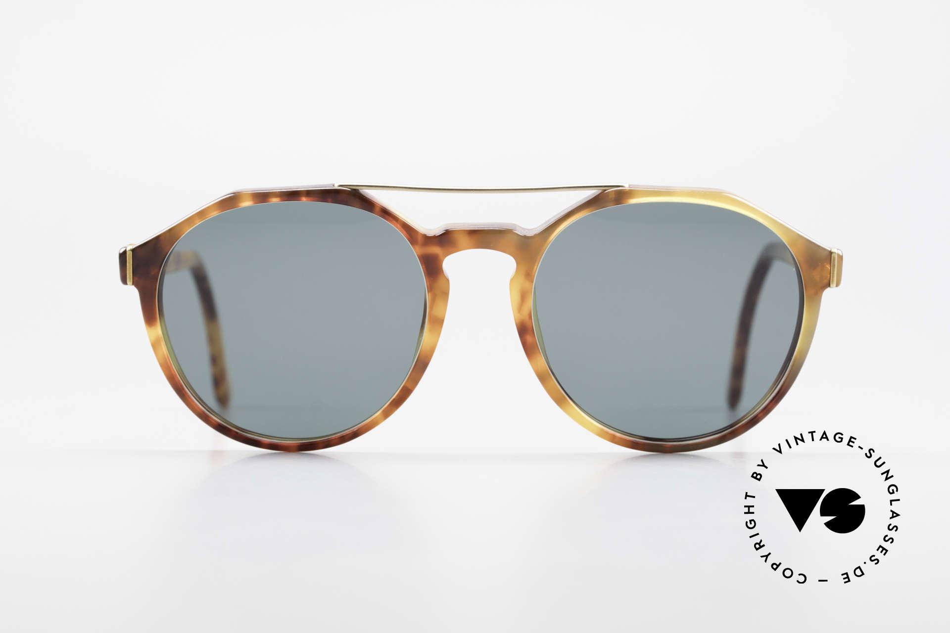 "Giorgio Armani 311 Round Aviator 80s Sunglasses, combination of the design styles ""round"" and ""aviator"", Made for Men and Women"