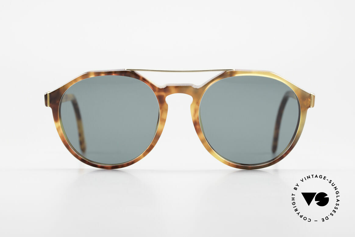 "Giorgio Armani 311 Round Aviator 80s Sunglasses, combination of the design styles ""round"" and ""aviator"", Made for Men and Women"