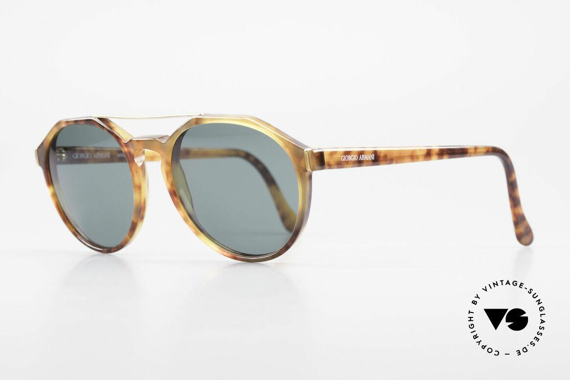 Giorgio Armani 311 Round Aviator 80s Sunglasses, terrific frame pattern (tortoise); premium craftsmanship, Made for Men and Women