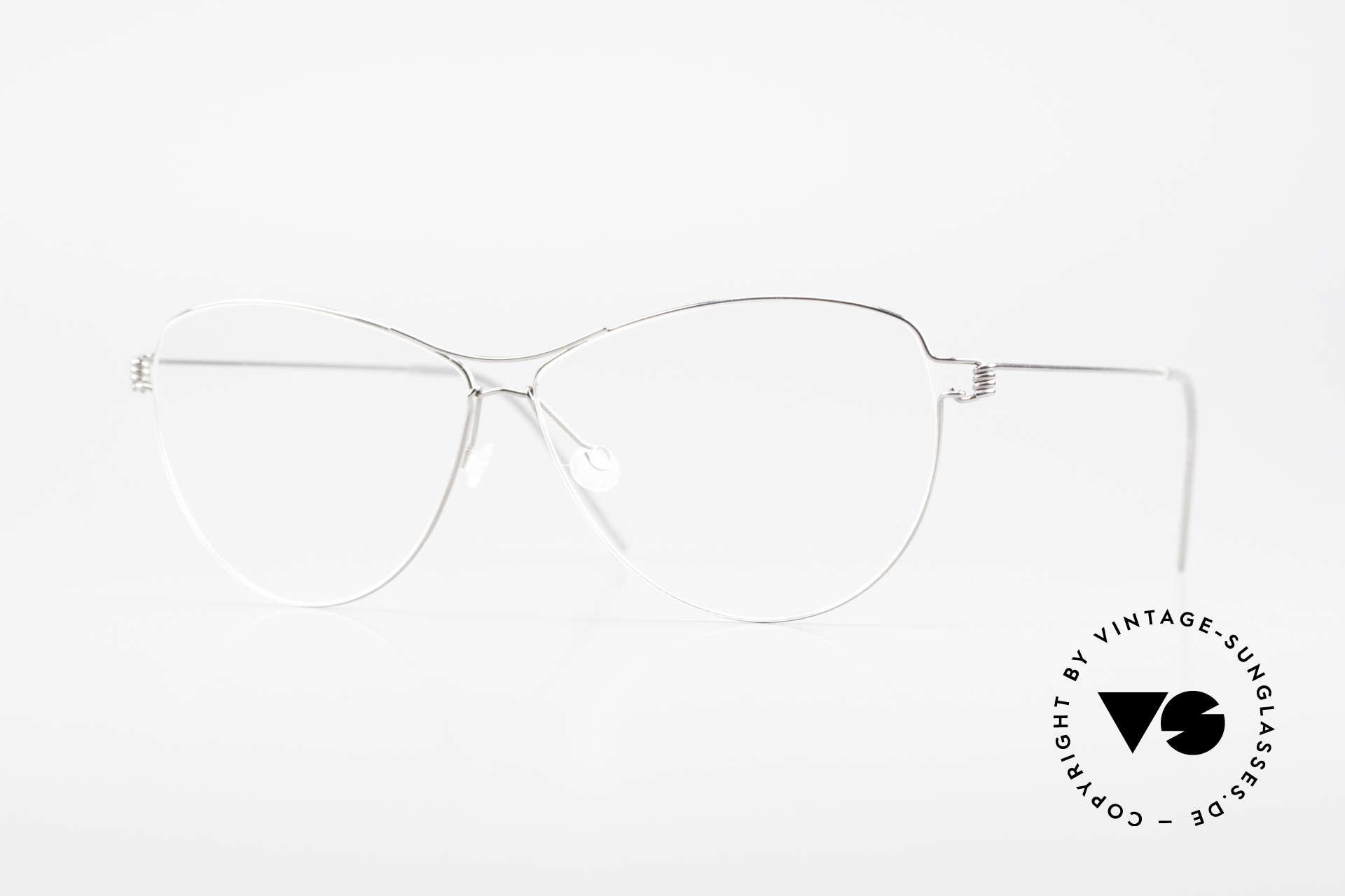 Lindberg Ditte Air Titan Rim Titanium Frame Ladies Aviator, LINDBERG Air Titanium Rim eyeglasses in size 57-19, Made for Women