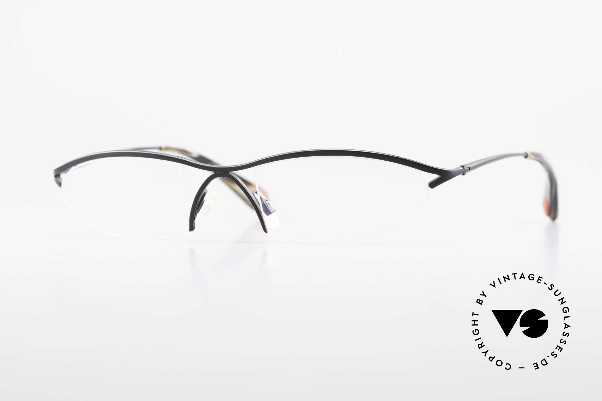 Bugatti 342 Odotype Nylor Frame Semi Rimless, original BUGATTI high-tech eyeglass-frame, Made for Men