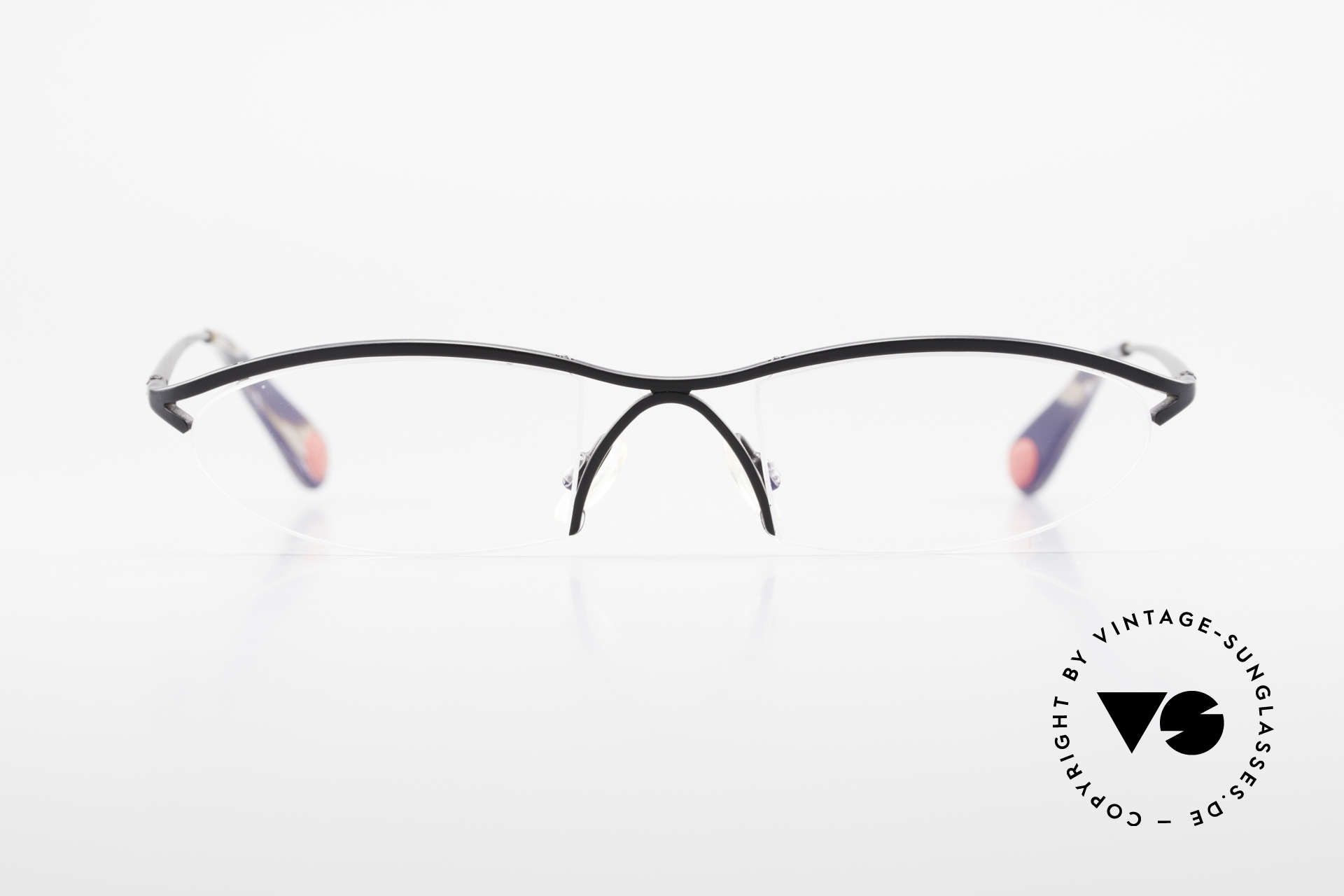 Bugatti 342 Odotype Nylor Frame Semi Rimless, distinctive design of the ODOTYPE SERIES, Made for Men