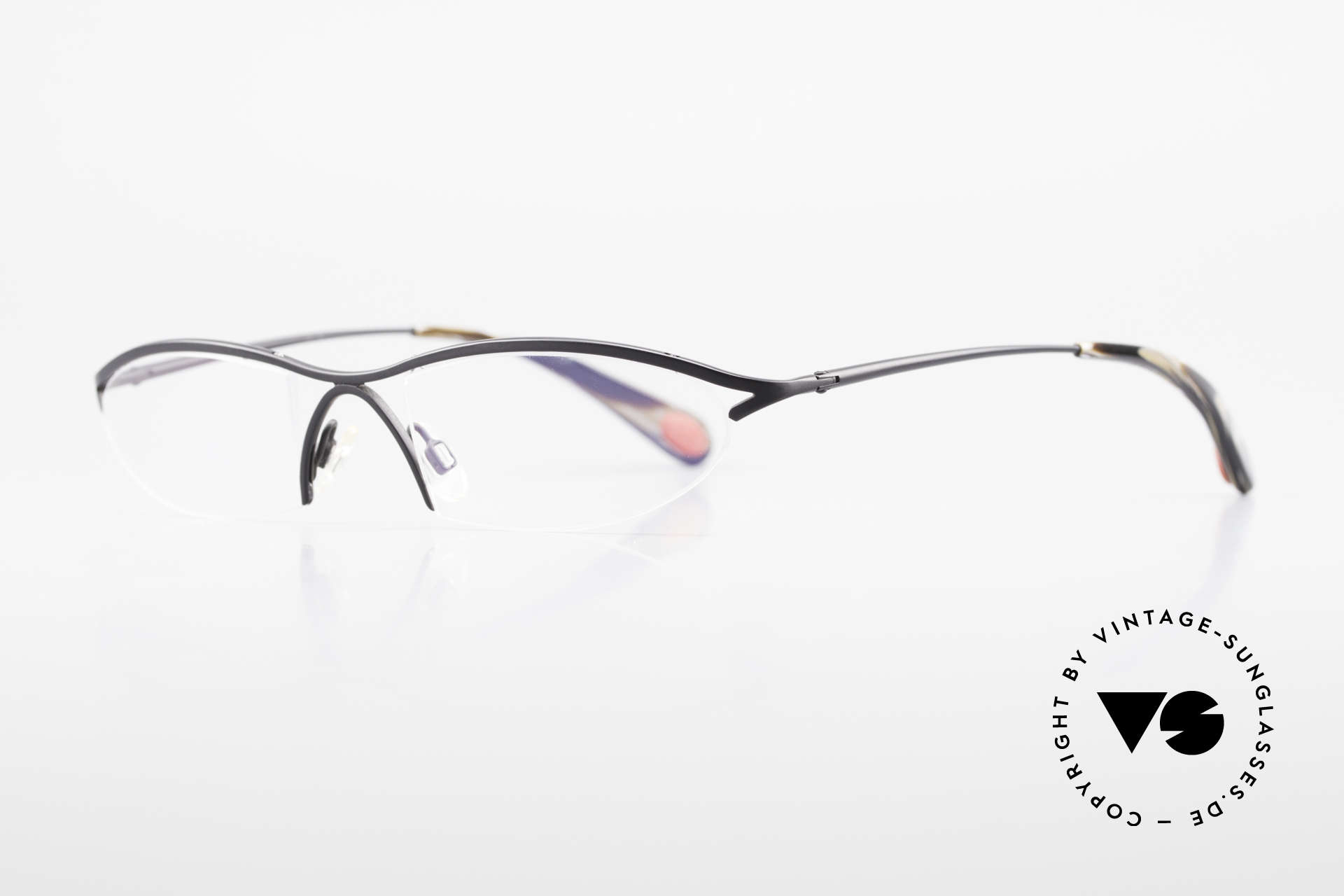 Bugatti 342 Odotype Nylor Frame Semi Rimless, ergonomic metal frame with spring hinges, Made for Men