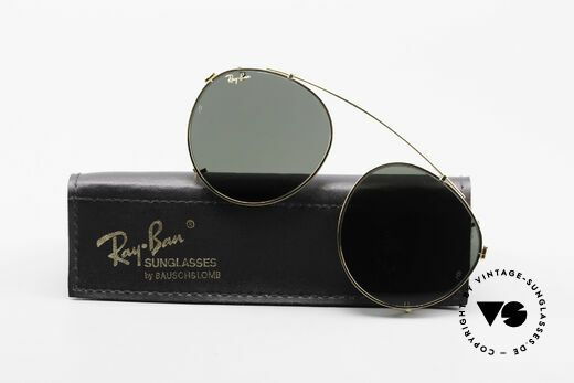 Ray Ban Round Metal 49 Clip On B&L USA Mineral Sun Lenses Details