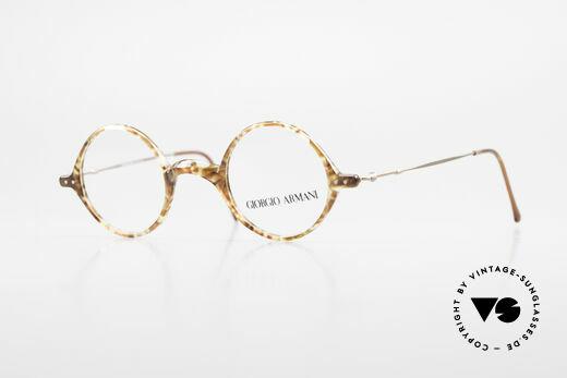Giorgio Armani 365 Small Round Eyeglasses 90's Details