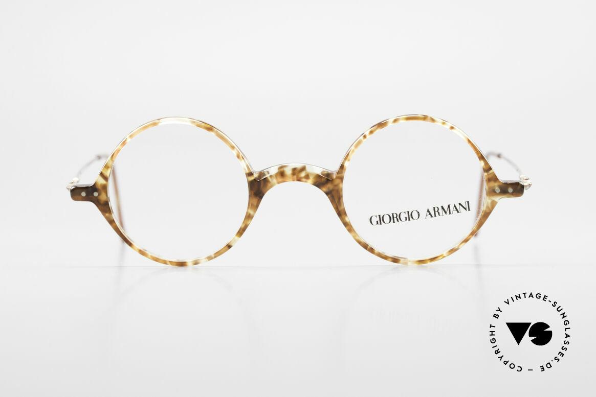 Giorgio Armani 365 Small Round Eyeglasses 90's, small round vintage designer eyeglass-frame by Armani, Made for Men and Women