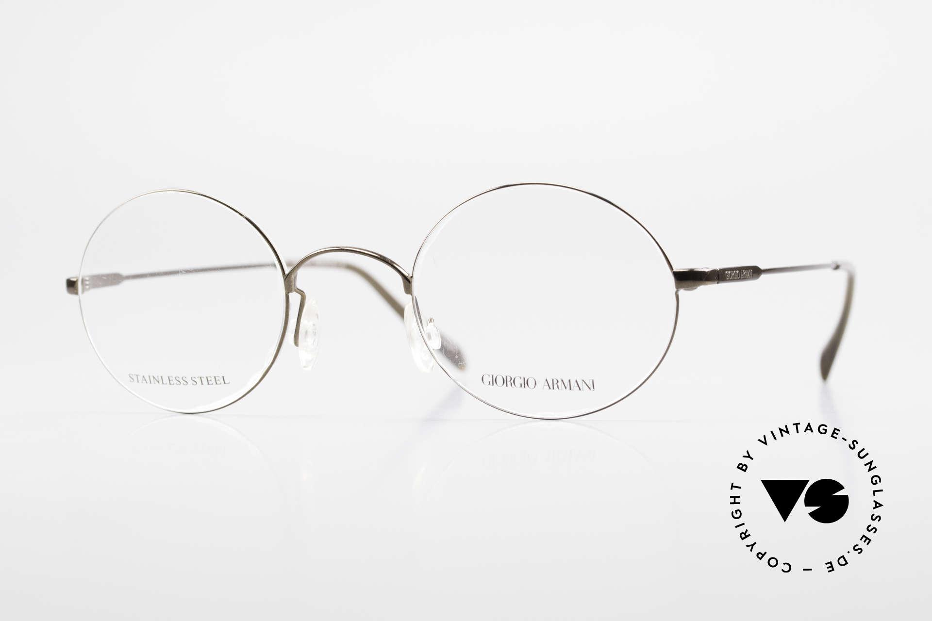Giorgio Armani 348 Round Vintage 90's Eyeglasses, round vintage 90s eyeglass-frame by Giorgio Armani, Made for Men and Women
