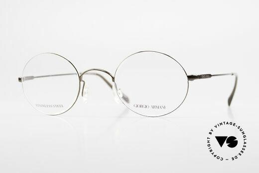 Giorgio Armani 348 Round Vintage 90's Eyeglasses Details