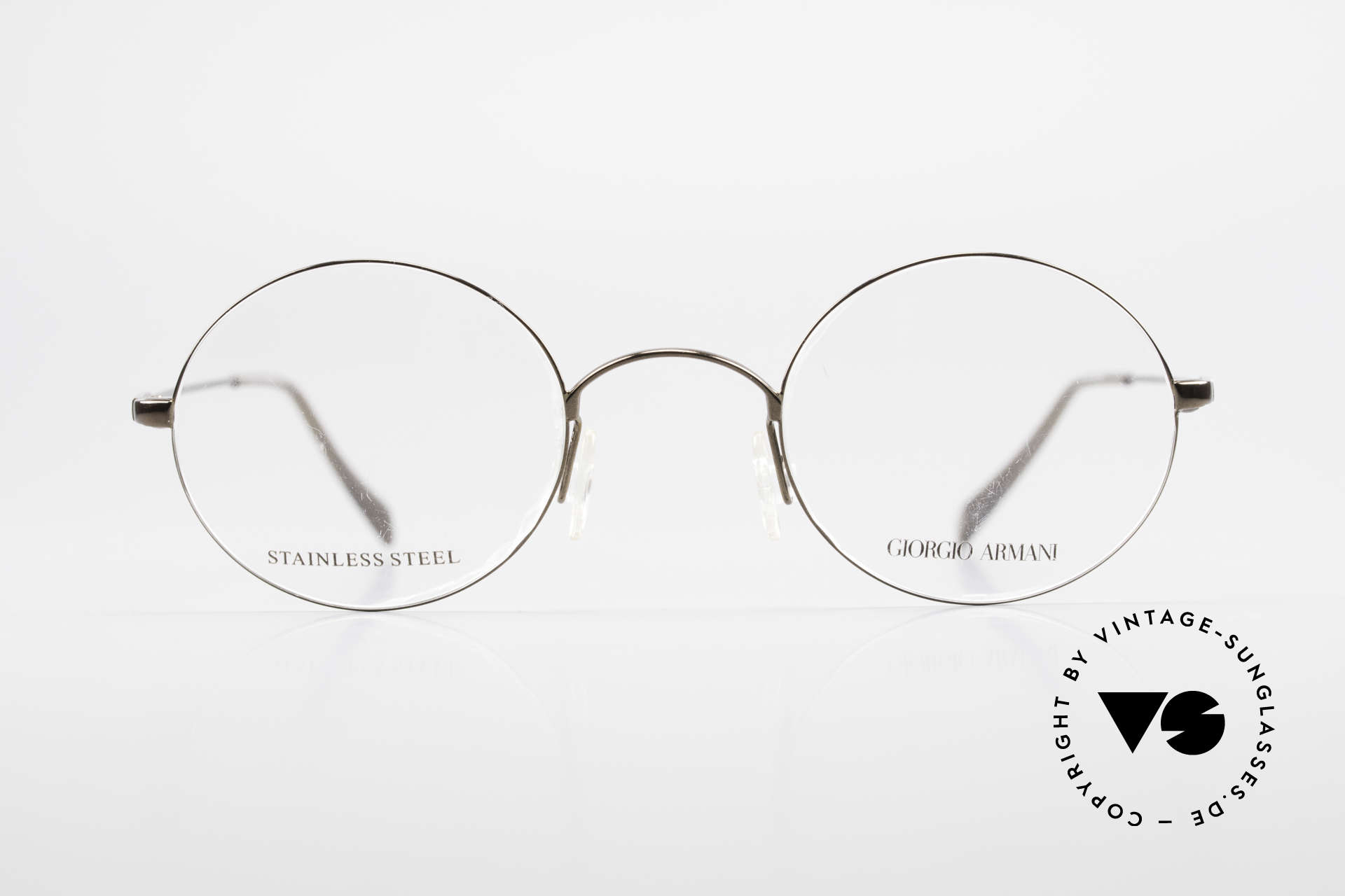 Giorgio Armani 348 Round Vintage 90's Eyeglasses, a true classic in design & coloring (timeless elegant), Made for Men and Women