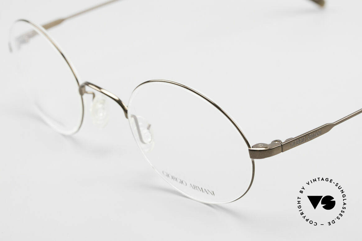 Giorgio Armani 348 Round Vintage 90's Eyeglasses, never worn (like all our vintage 1990's Armani frames), Made for Men and Women