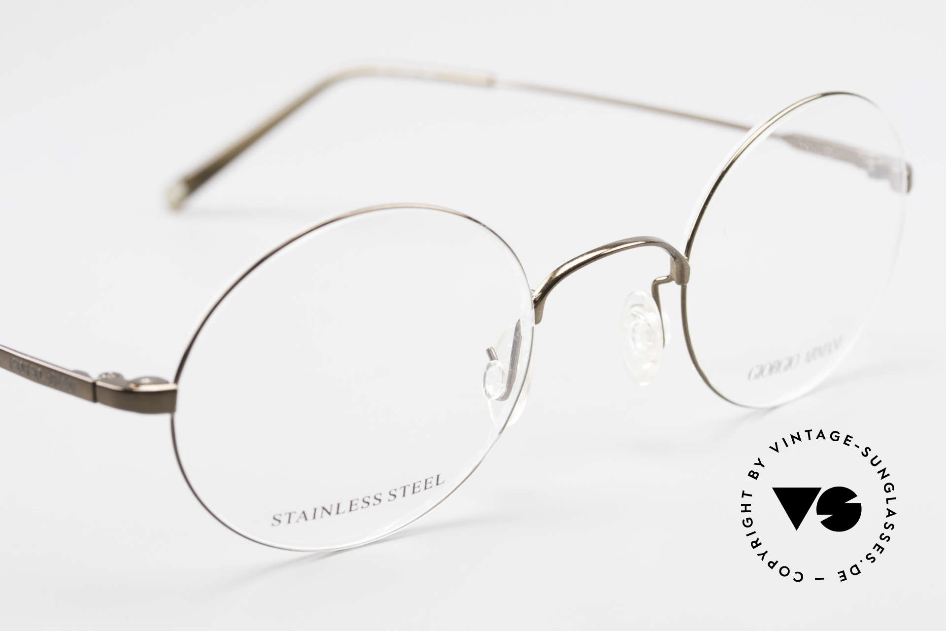 Giorgio Armani 348 Round Vintage 90's Eyeglasses, NO RETRO; a unique original in MEDIUM 125mm size!, Made for Men and Women