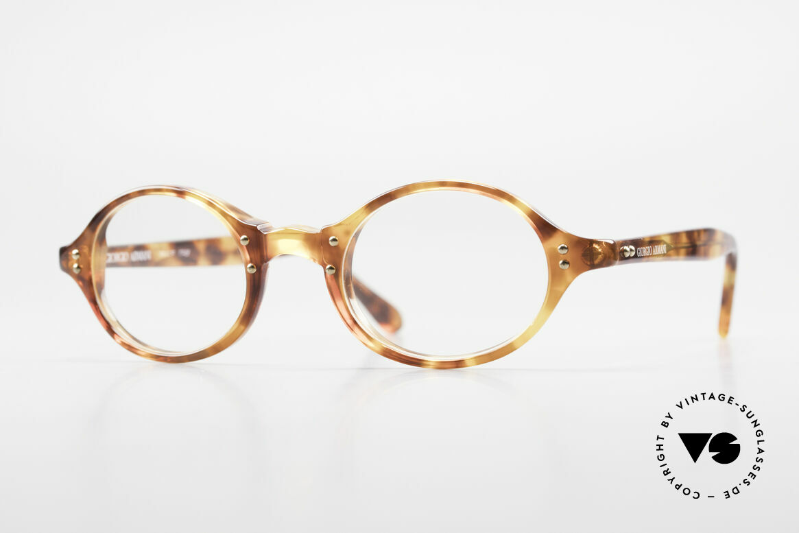 Giorgio Armani 342 Small Oval 90s Eyeglass-Frame, vintage designer eyeglass-frame by GIORGIO Armani, Made for Men and Women