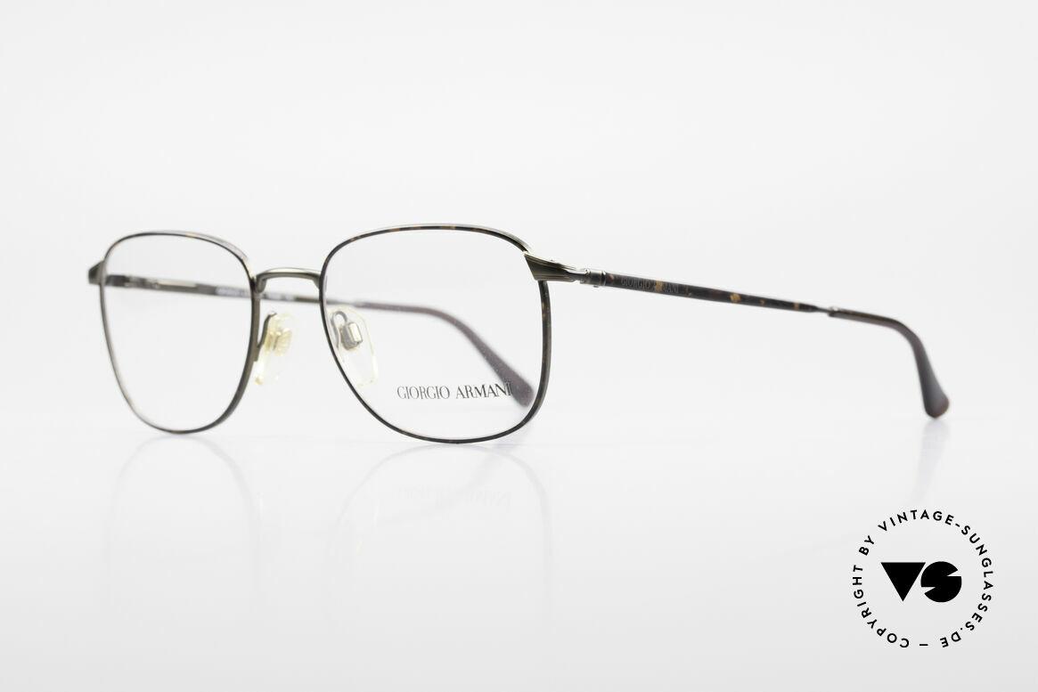 Giorgio Armani 236 Square Panto Vintage Frame, with interesting 'chestnut / dark gray' frame coloring, Made for Men