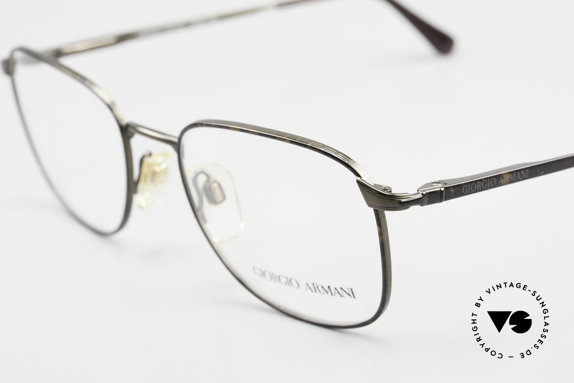 Giorgio Armani 236 Square Panto Vintage Frame, metal frame with flexible spring hinges; top comfort!, Made for Men