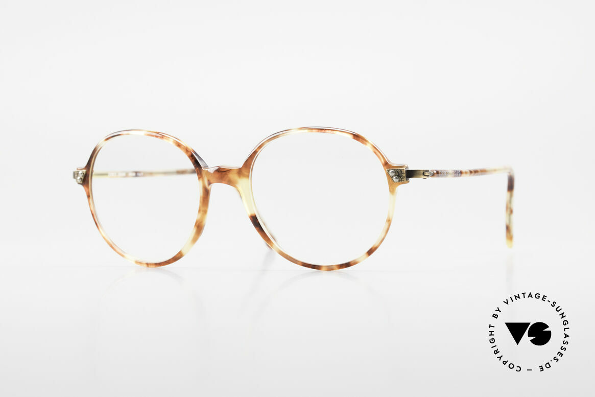 Giorgio Armani 334 Vintage Round Eyeglass-Frame, timeless vintage Giorgio Armani designer eyeglasses, Made for Men and Women