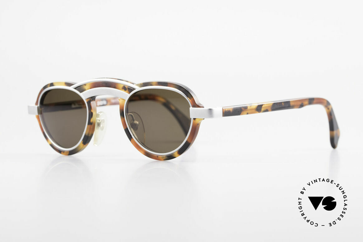 Alain Mikli 5107 / 0504 Rare 80's Designer Shades, brilliant combination of forms, color and materials, Made for Men and Women