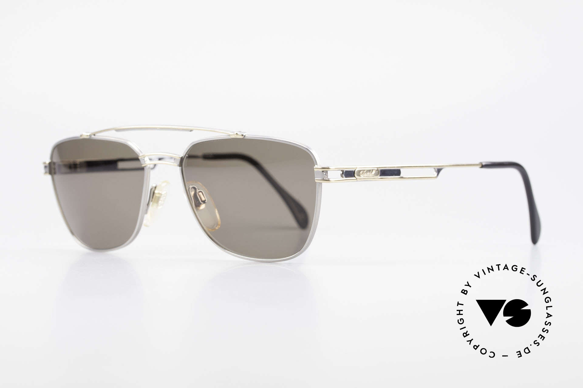 Davidoff 708 Classic Men's Sunglasses, very interesting frame finish (titanium / gold metallic), Made for Men