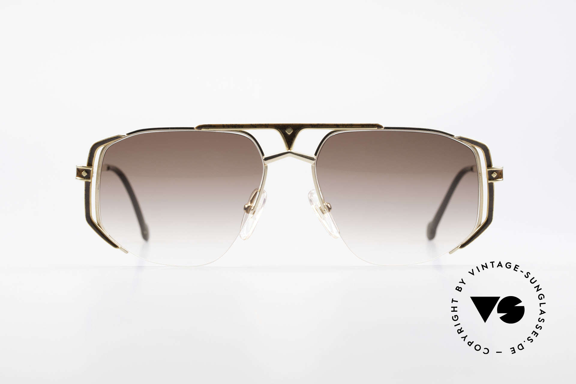 MCM München 5 Titanium Sunglasses Large, precious frame with serial number & case by Versace, Made for Men