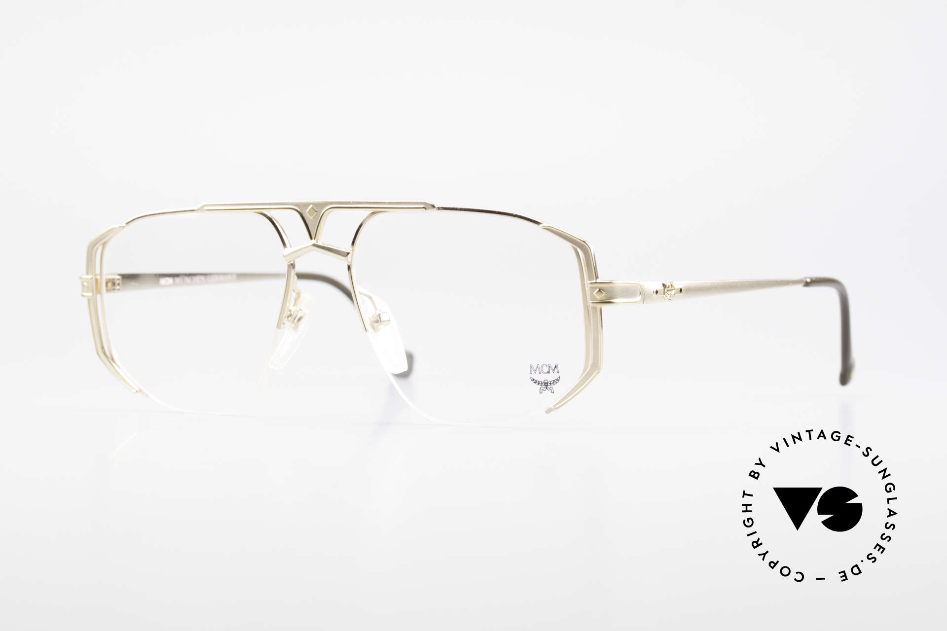 MCM München 5 Titanium Eyeglasses Large, LARGE designer glasses by MCM from the early 1990's, Made for Men