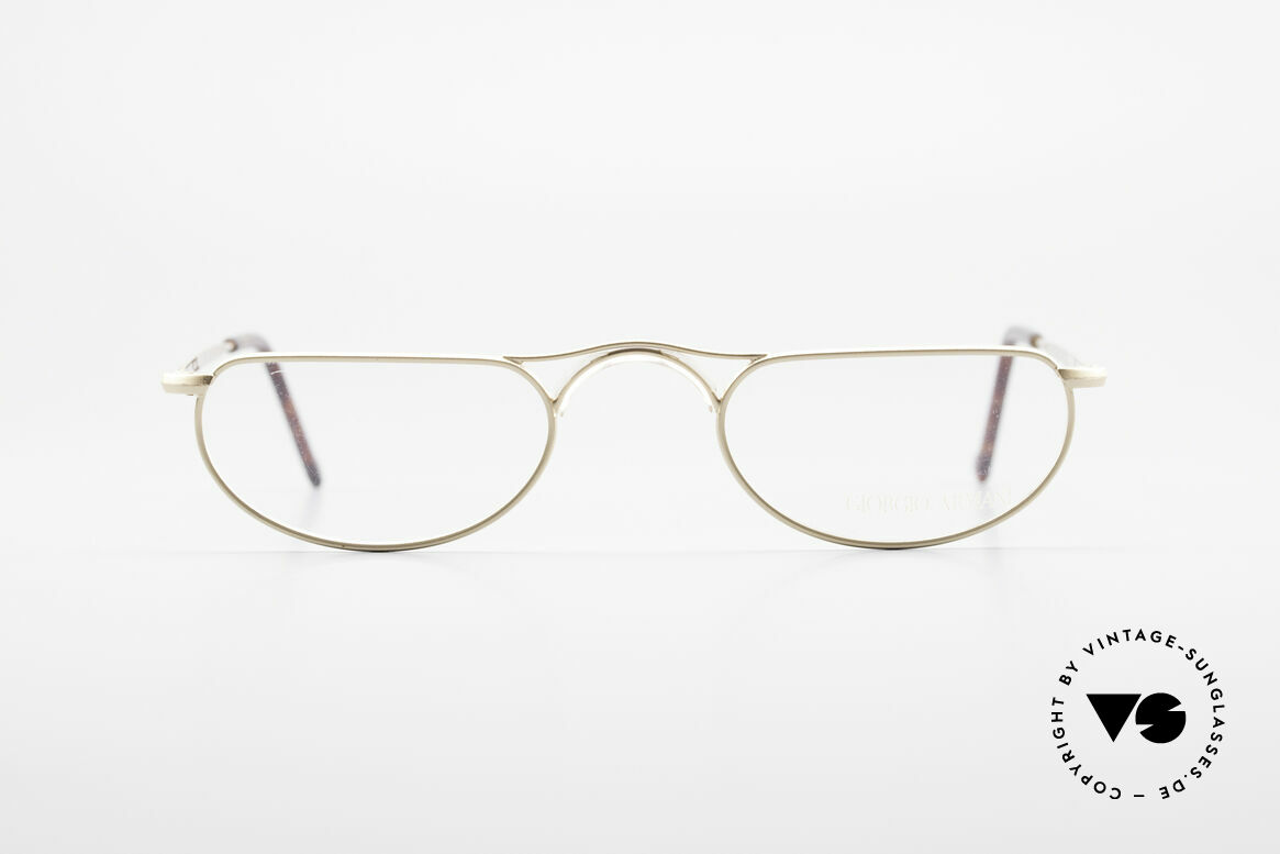 Giorgio Armani 133 Rare Old 80's Reading Glasses, lightweight halfframe (ergonomically correct), Made for Men and Women