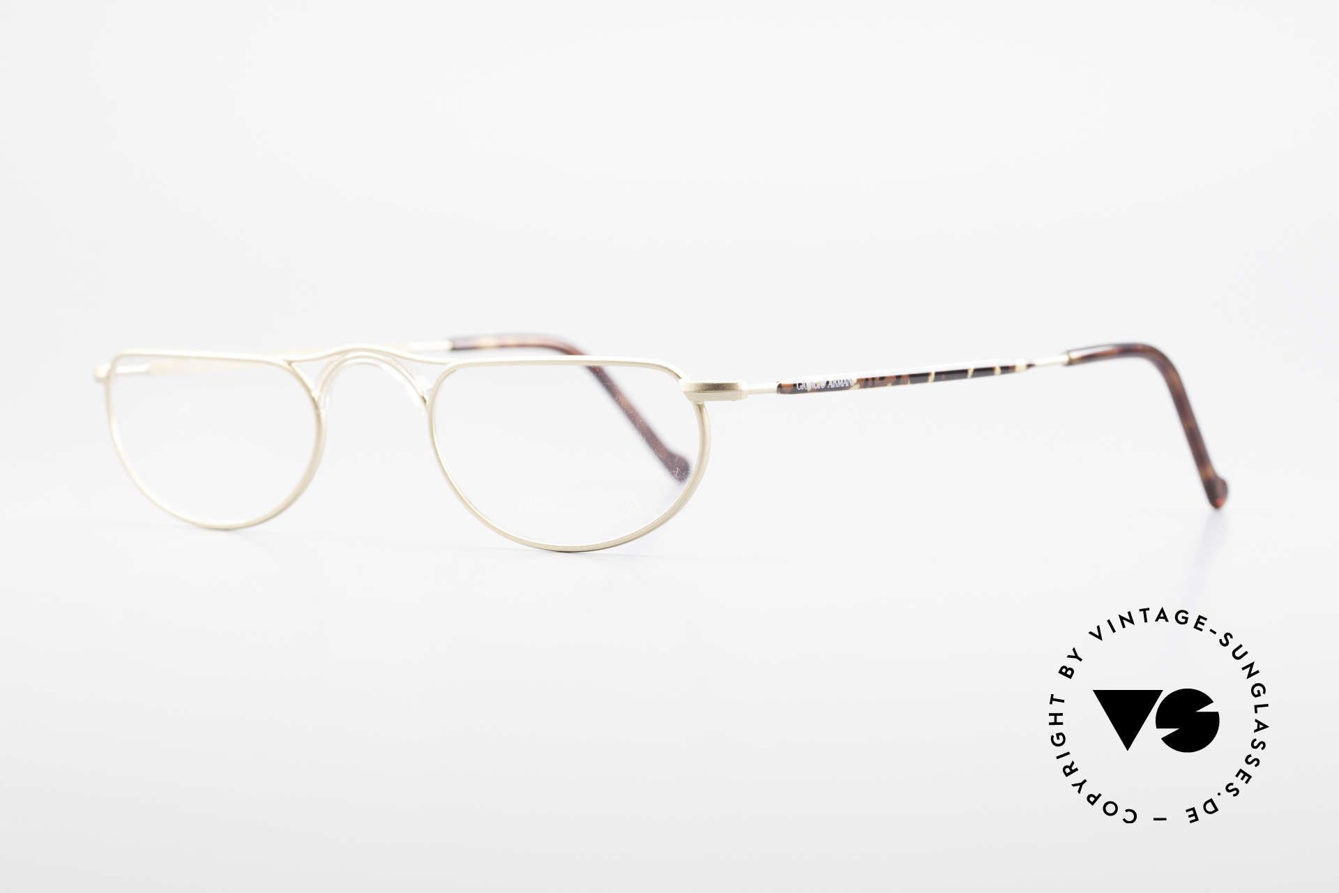 Giorgio Armani 133 Rare Old 80's Reading Glasses, interesting frame finish: dulled gold / chestnut, Made for Men and Women