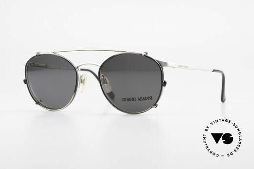 Giorgio Armani 163 Clip On 132 Panto Eyeglasses Details