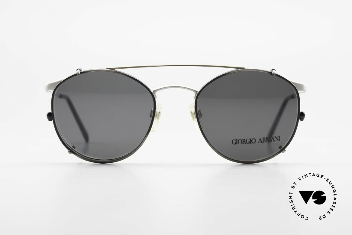 Giorgio Armani 163 Clip On 132 Panto Eyeglasses, world famous 'panto'-design .. a real eyewear classic, Made for Men