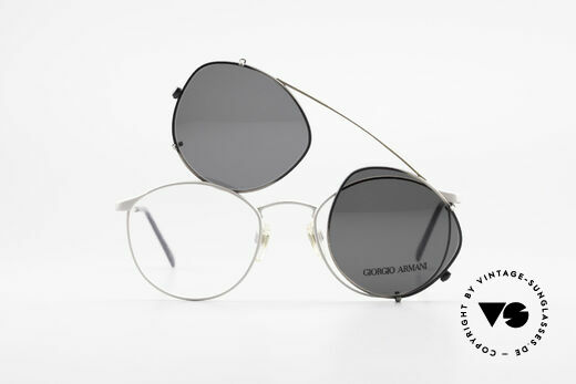 Giorgio Armani 163 Clip On 132 Panto Eyeglasses, NO retro specs, but a unique 30 years old ORIGINAL!, Made for Men