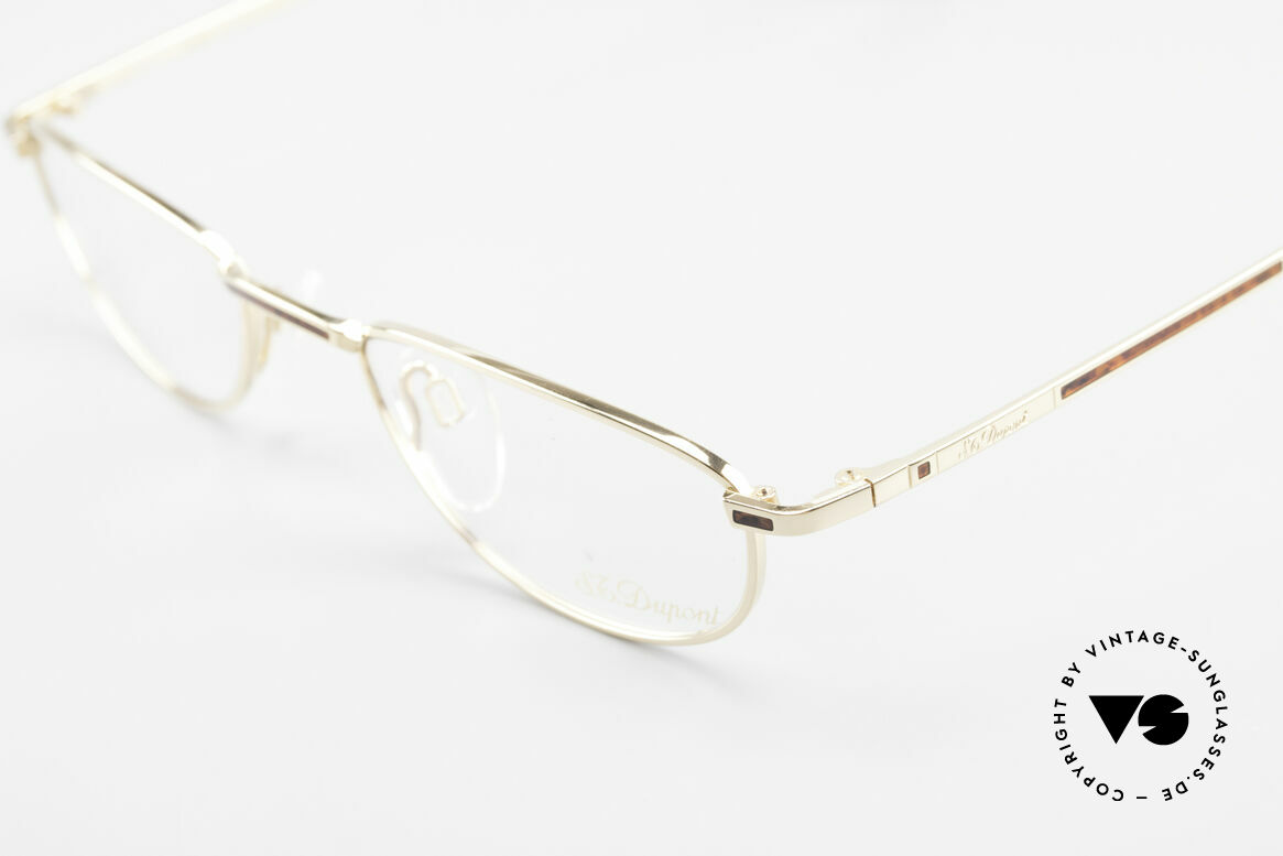 S.T. Dupont D051 Luxury Reading Eyeglasses 23KT, unworn (like all our rare vintage frames by S.T. Dupont), Made for Men