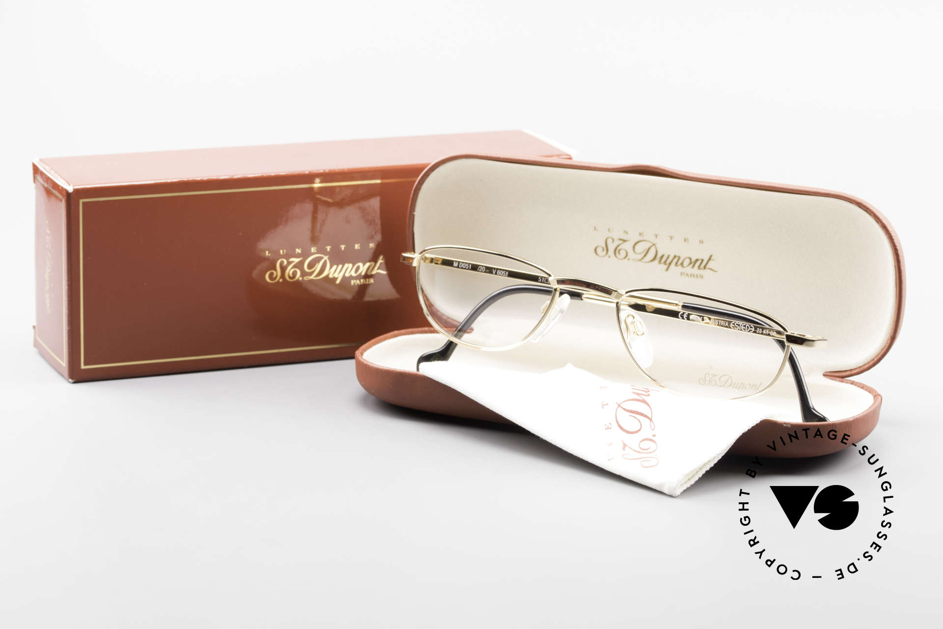 """S.T. Dupont D051 Luxury Reading Eyeglasses 23KT, a vintage """"must-have"""" of incredible top-quality; vertu!, Made for Men"""