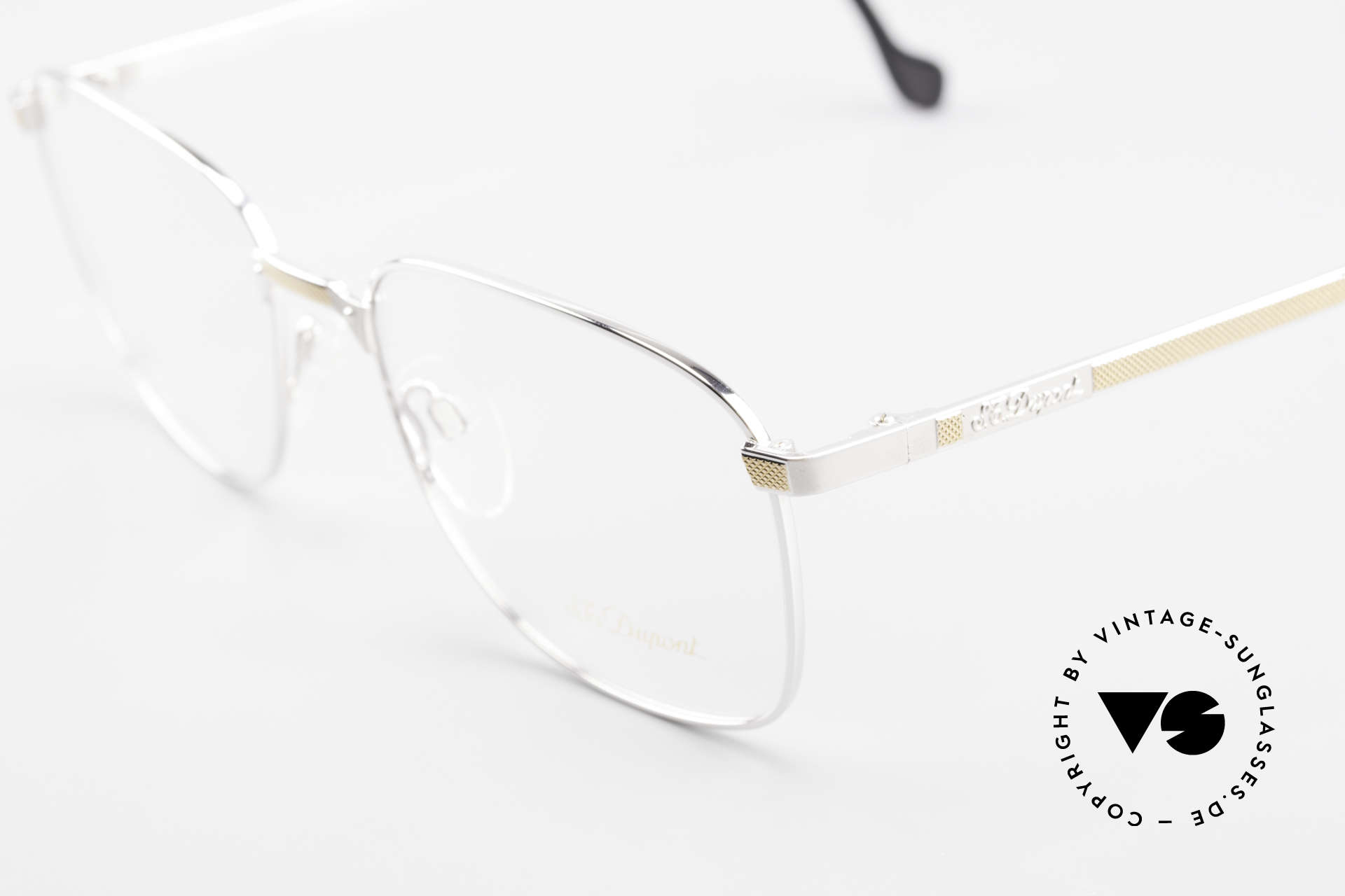 S.T. Dupont D048 Classic Luxury Eyeglasses 23kt, incl. original S.T. Dupont cloth, hard case and packing, Made for Men