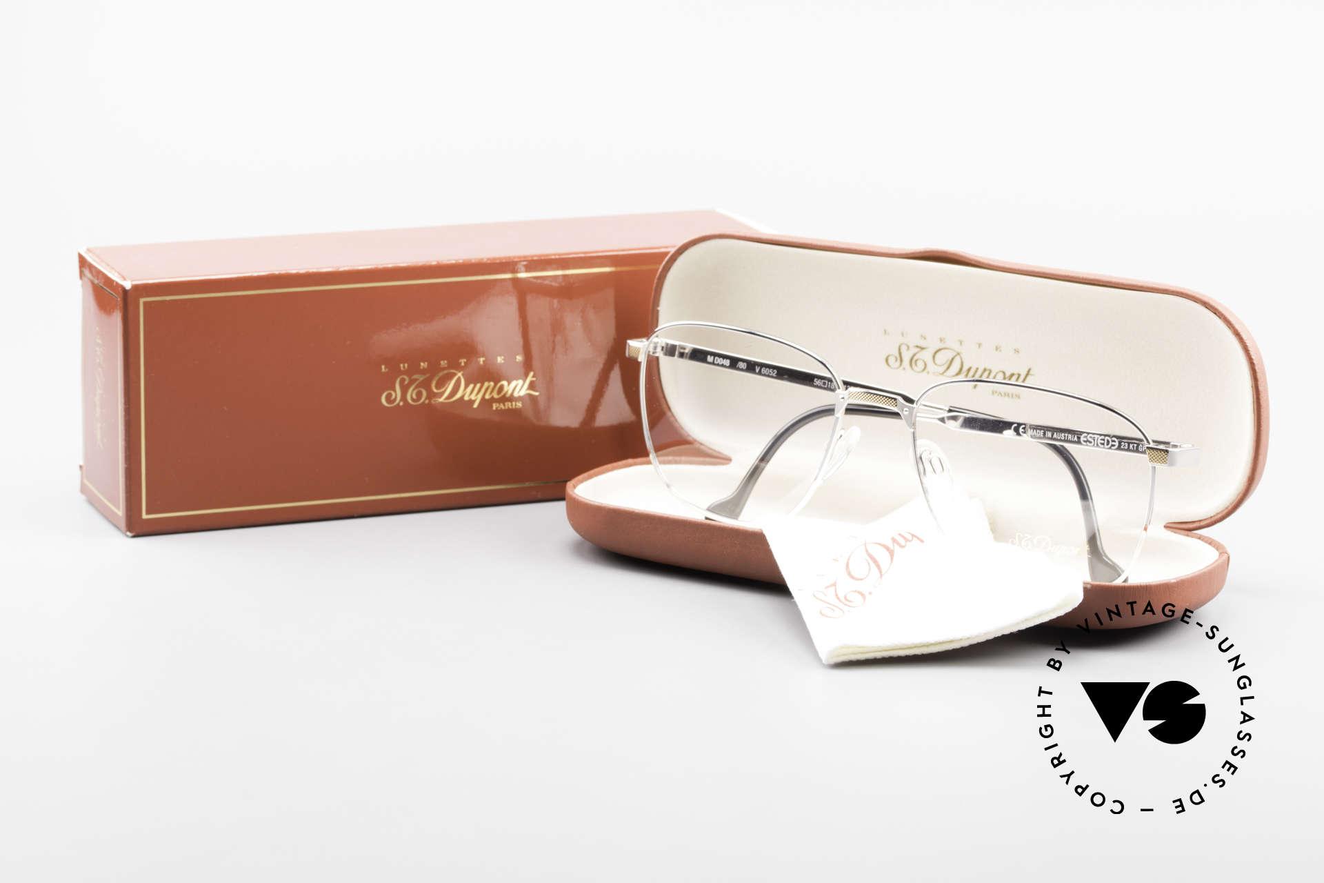 S.T. Dupont D048 Classic Luxury Eyeglasses 23kt, NO RETRO eyeglasses, but a precious 1990's ORIGINAL, Made for Men