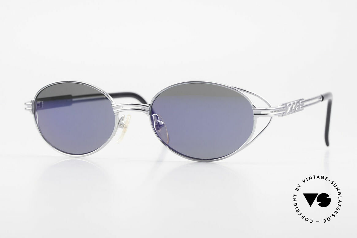 Jean Paul Gaultier 58-6106 Oval Designer Sunglasses, oval 90's designer sunglasses by Jean Paul GAULTIER, Made for Men and Women