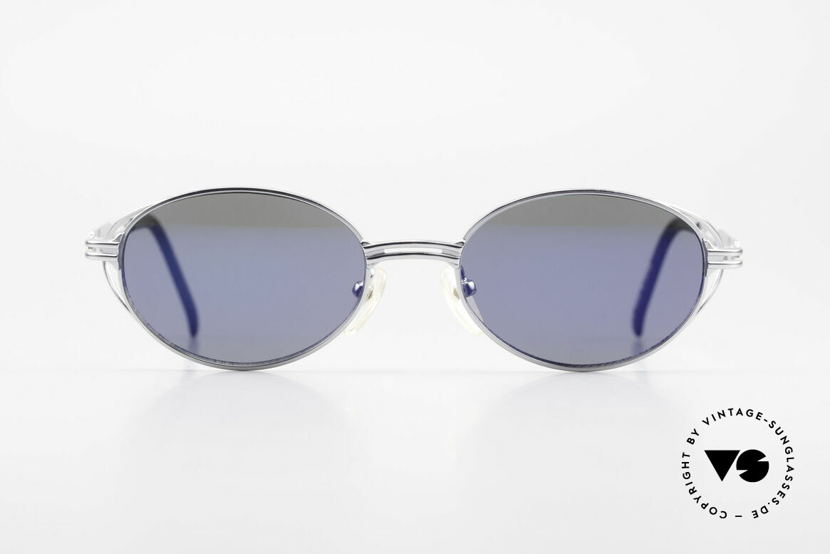 Jean Paul Gaultier 58-6106 Oval Designer Sunglasses, similar to the Tupac Gaultier glasses (model 55-3175), Made for Men and Women