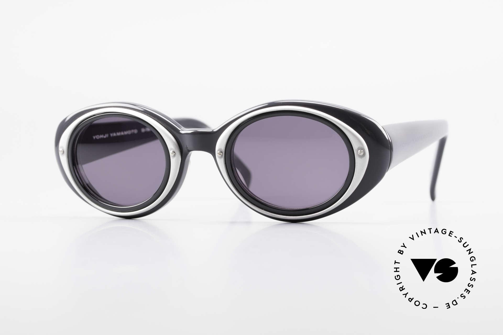Yohji Yamamoto 52-7001 Sunglasses Kurt Cobrain Style, distinguished vintage Y. Yamamoto shades of the 90s, Made for Men and Women