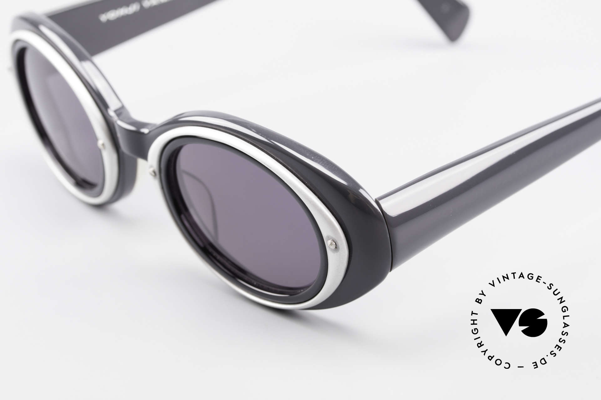 Yohji Yamamoto 52-7001 Sunglasses Kurt Cobrain Style, rather a design for ladies; also only 127mm small width, Made for Men and Women
