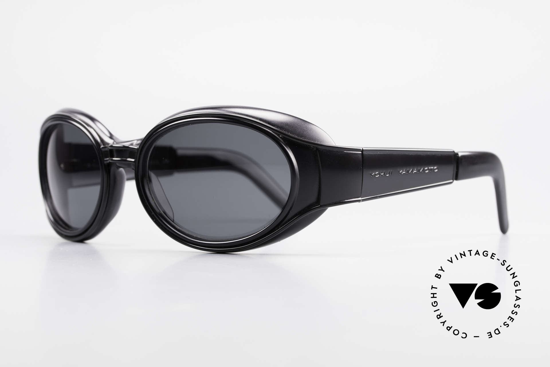 Yohji Yamamoto 52-6202 Sporty XL Designer Sunglasses, but still very sporty and extra large size (149mm width), Made for Men and Women
