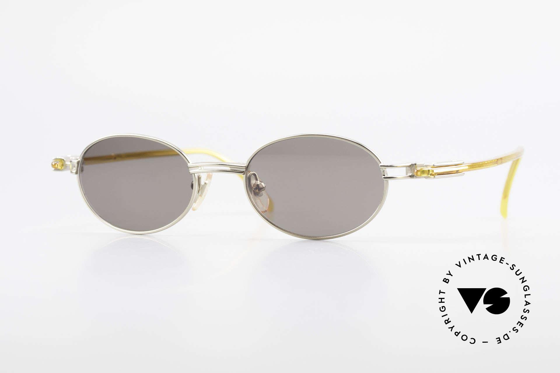 Yohji Yamamoto 52-7202 Designer Shades Oval Vintage, sporty oval 1990's Yohji YAMAMOTO vintage sunglasses, Made for Men and Women