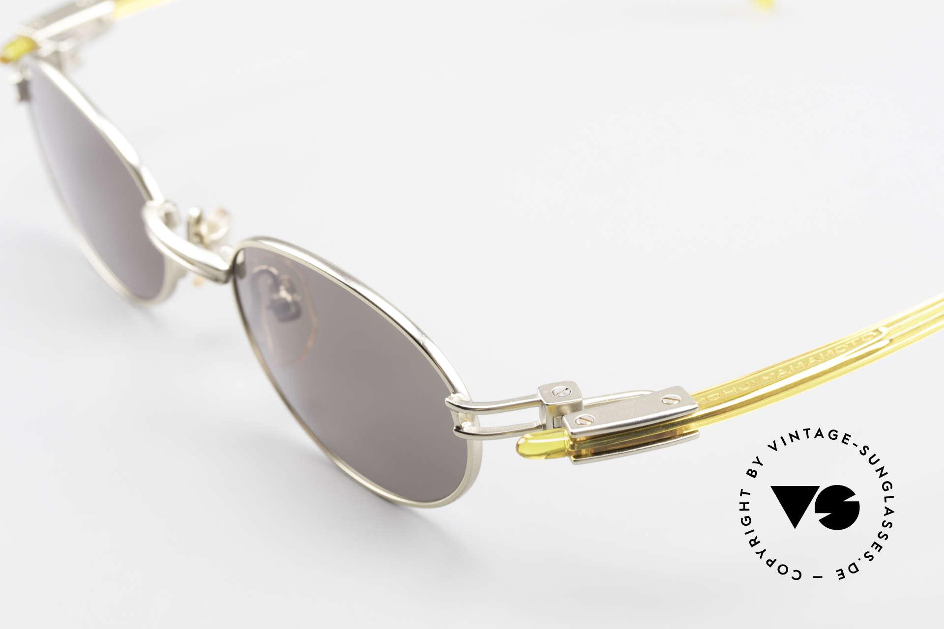 Yohji Yamamoto 52-7202 Designer Shades Oval Vintage, unworn (like all our rare vintage YY designer sunglasses), Made for Men and Women