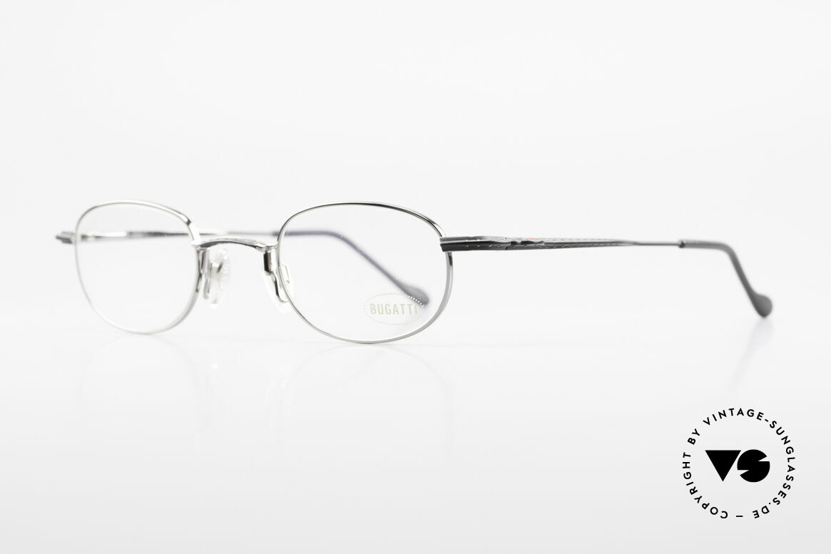 Bugatti 23562 Rare 90's Luxury Eyeglasses, flexible spring hinges & lightweight Titanium parts, Made for Men
