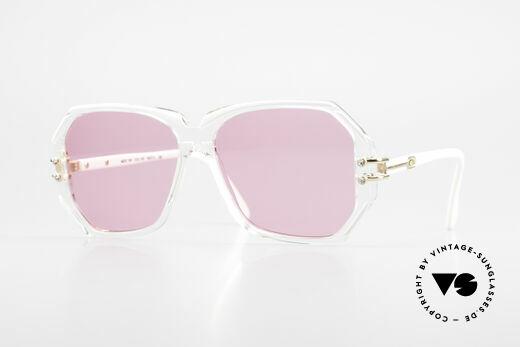 Cazal 169 Pink Vintage Designer Shades Details